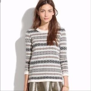 Madewell Merino Wool Fair Isle Sweater